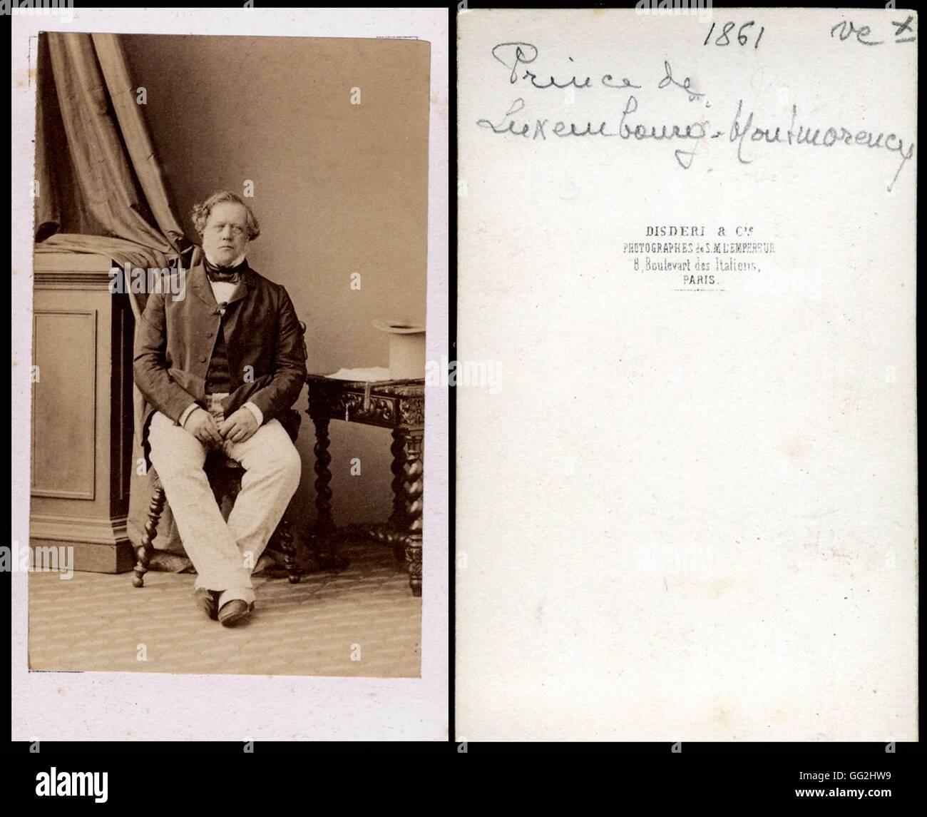 Portrait Du Prince De Luxembourg Montmorency Photo Par Disdri Taille 1861 Carte Visite