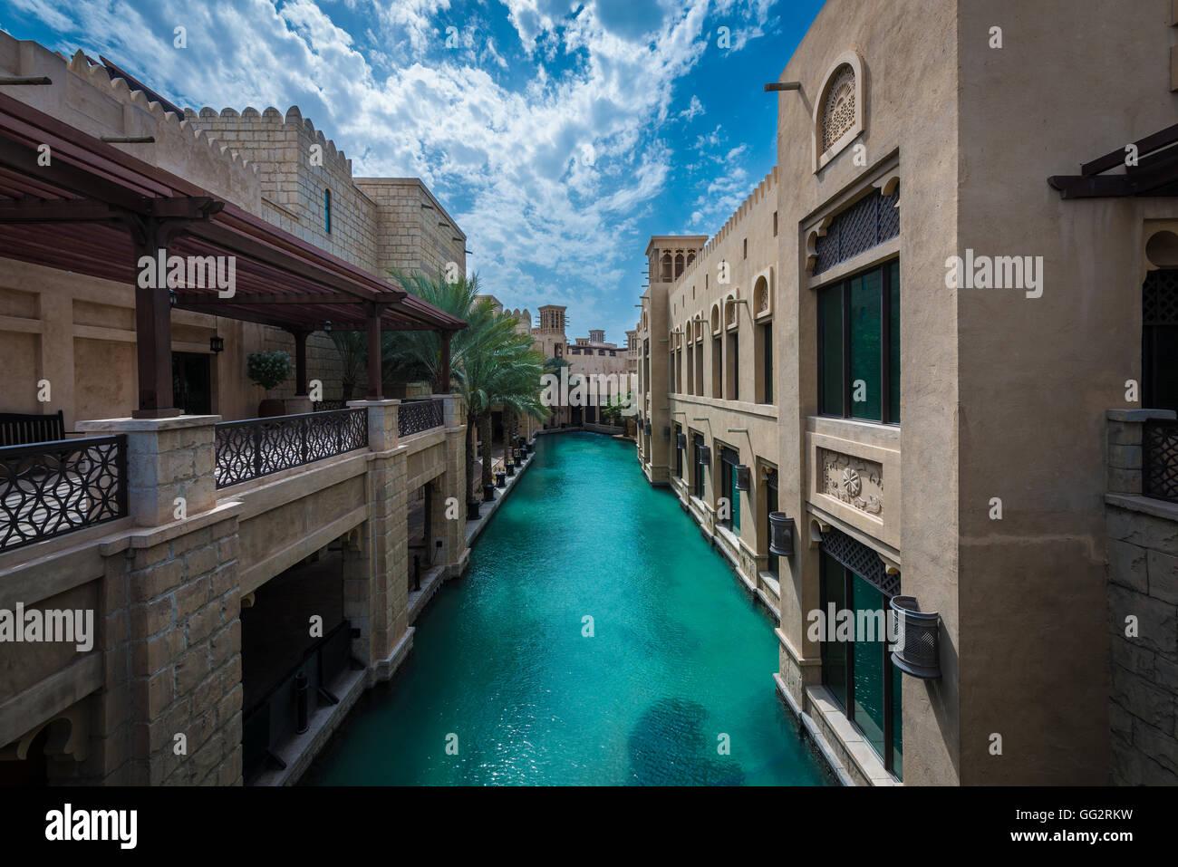 Souk Madinat Jumeirah, Dubaï, Émirats Arabes Unis Banque D'Images