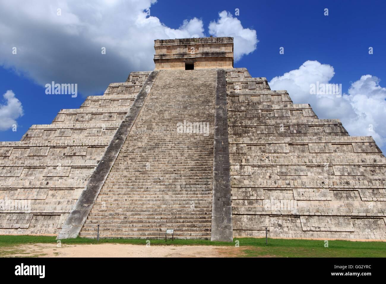 Historique Le site maya de Chichen Itza sur la péninsule du Yucatan au Mexique, d'Amérique centrale. Photo Stock