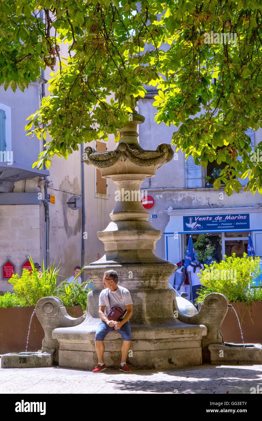 Fontaine de St Remy de Provence, France Photo Stock