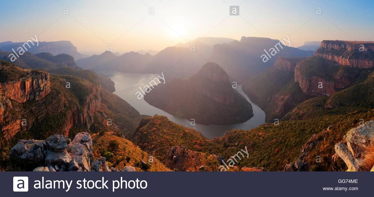 Blyder River Canyon Lever du soleil d'hiver Photo Stock