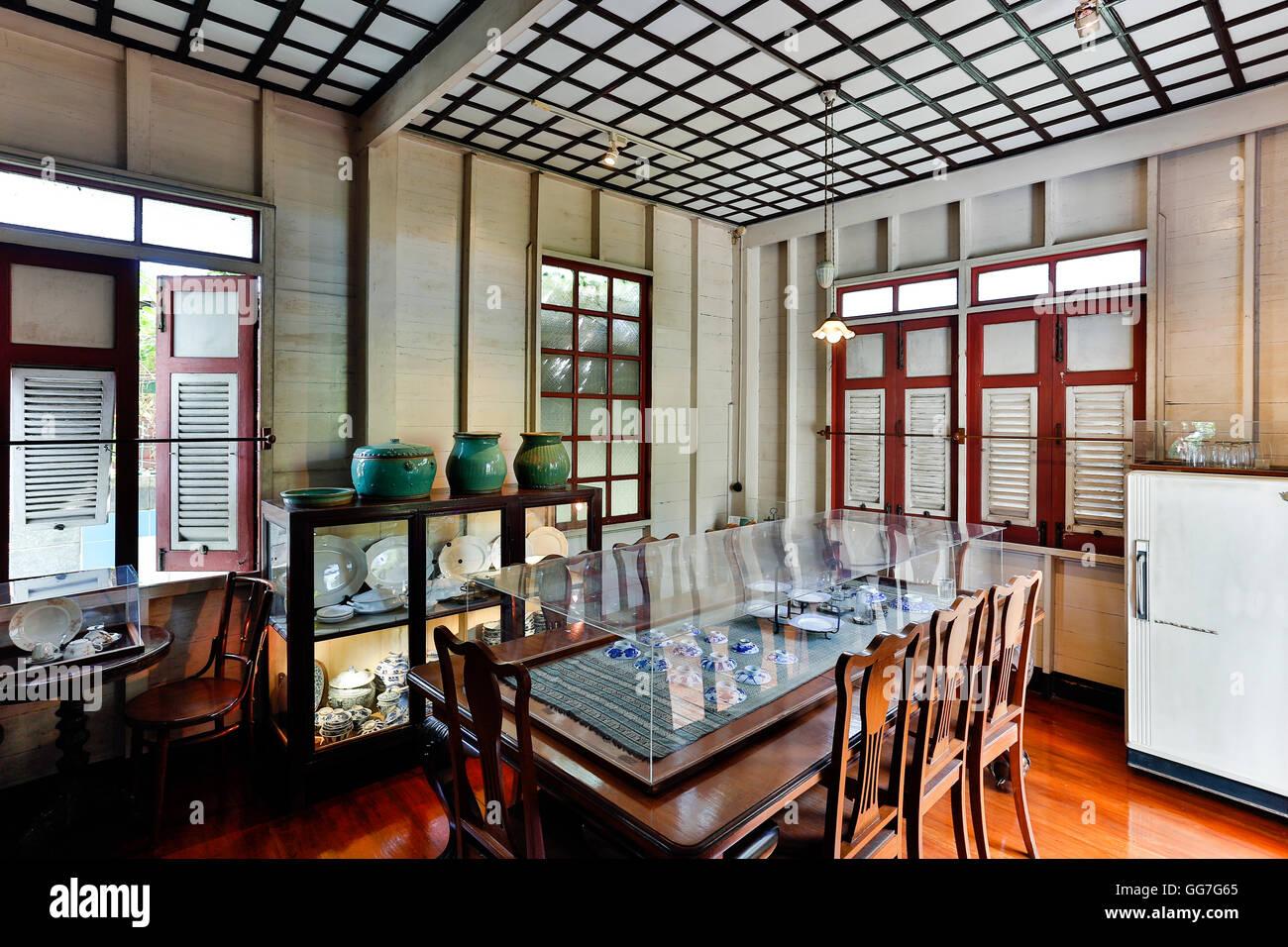 Bangkokian ou Bangkok Musée Folk Museum situé dans Bangrak, Bangkok, Thaïlande. Photo Stock