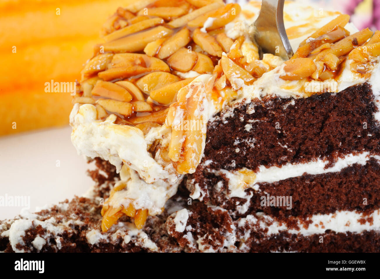 mangé de gâteau Photo Stock