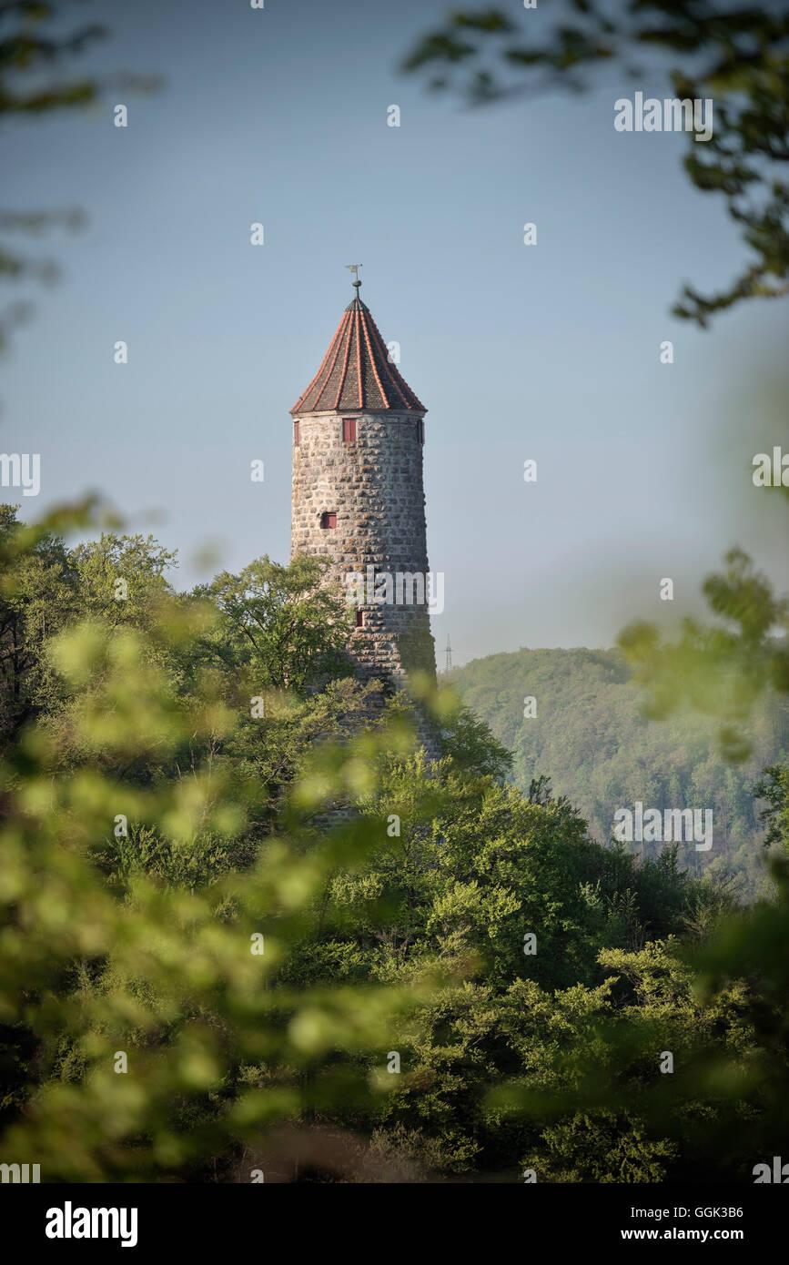 Tour d'observation, Suhr, Souabe Alp, Bade-Wurtemberg, Allemagne Banque D'Images