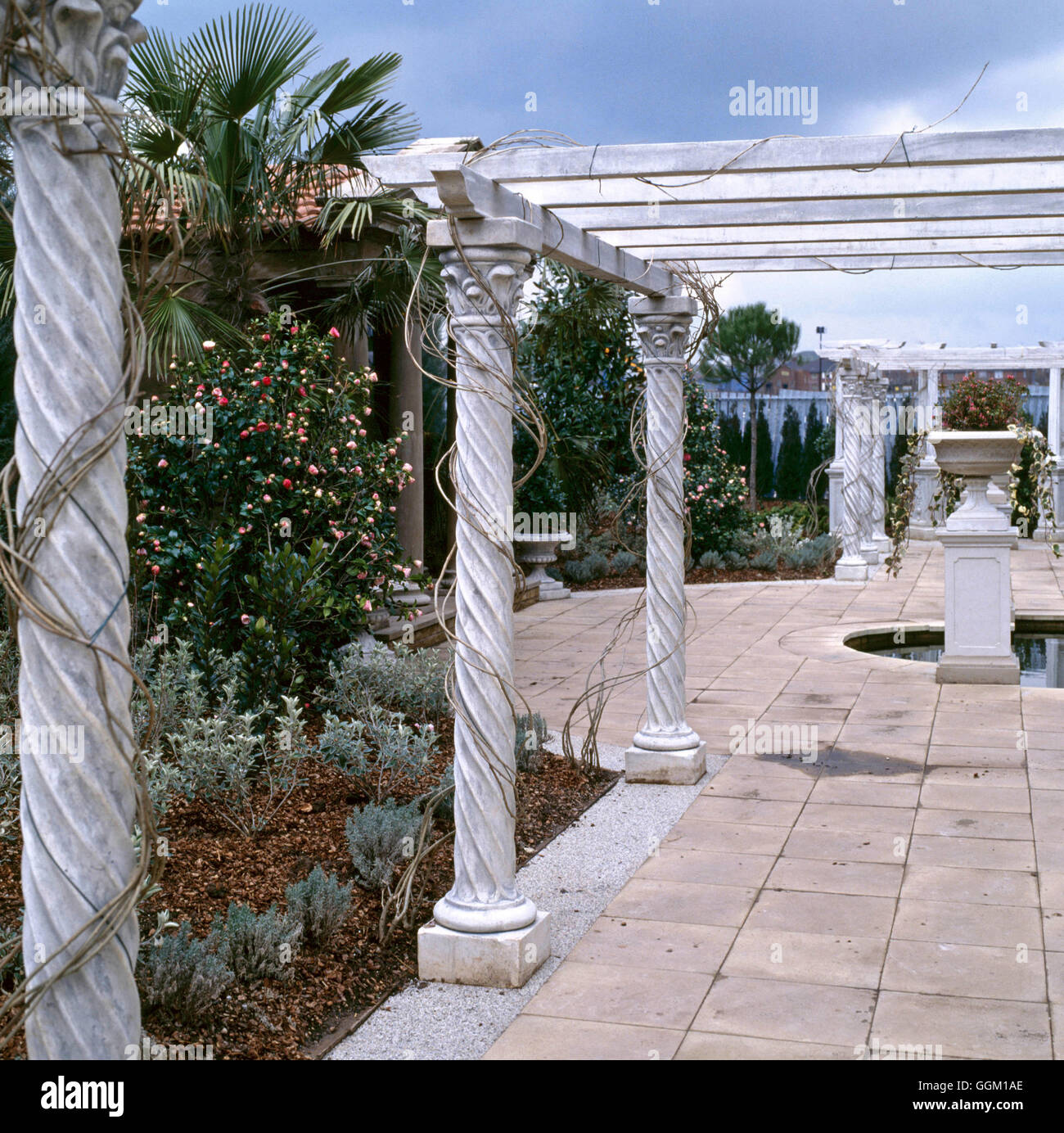 columns pergola photos columns pergola images alamy. Black Bedroom Furniture Sets. Home Design Ideas