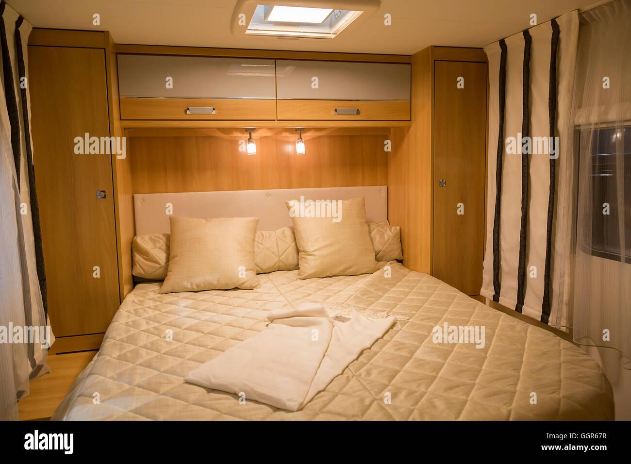 À l'intérieur de camping-moderne Banque D'Images