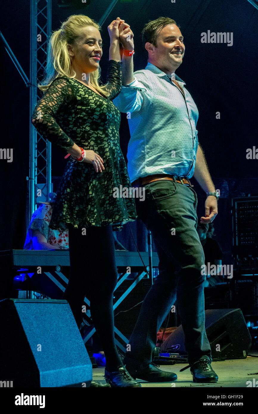 Wickham, UK. 7 Août, 2016. Chérir Les Dames de Wickham 2016 Festival Crédit: James Houlbrook/Alamy Photo Stock