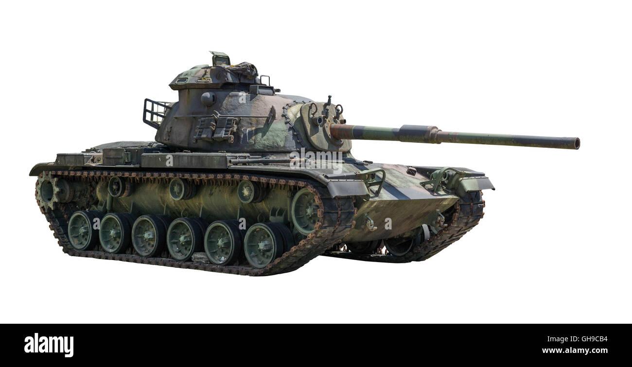 M - 60 Patton réservoir sur un fond blanc. Banque D'Images