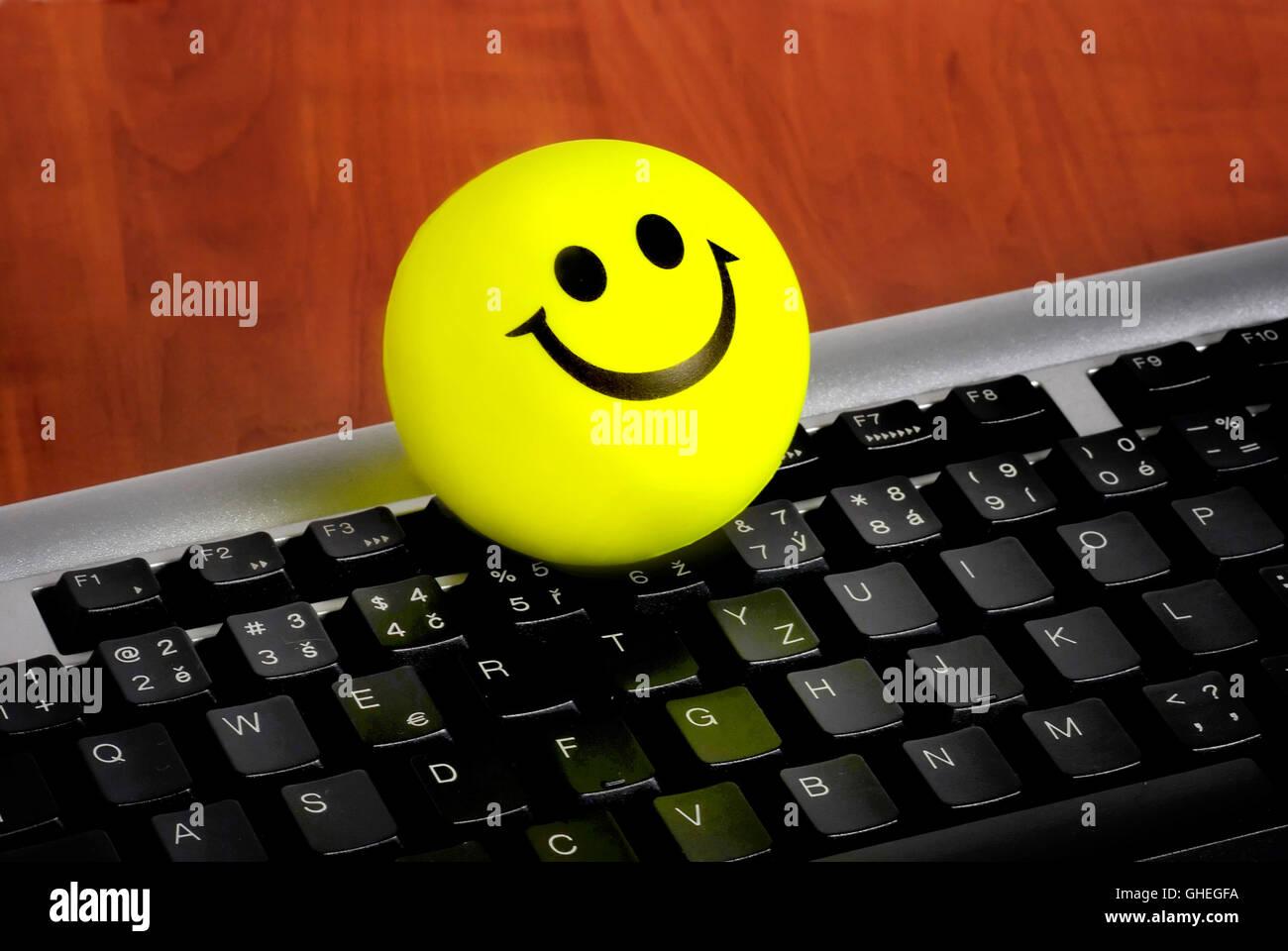 Smiley emoticon, bonheur concept Banque D'Images