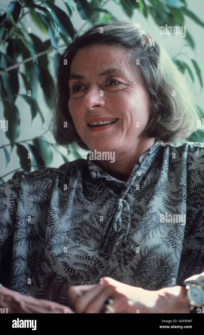 INGRID BERGMAN, actrice suédoise (Jour de naissance: 29. Août 1915 à Stockholm; Jour du décès: 29. Août 1982 à Londres), Portrait ca. 1980. Banque D'Images