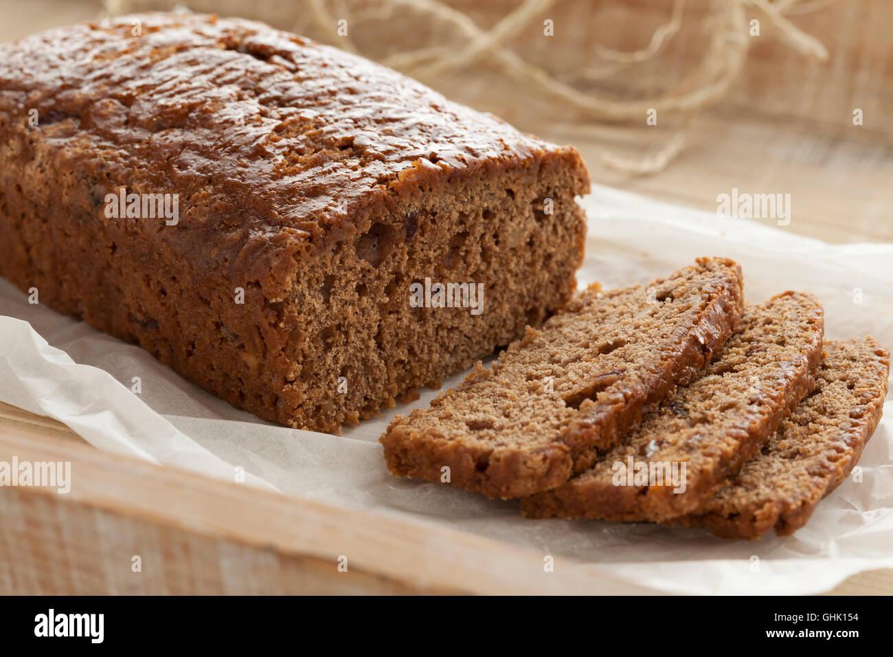 Gâteau d'épice traditionnel fait maison Photo Stock