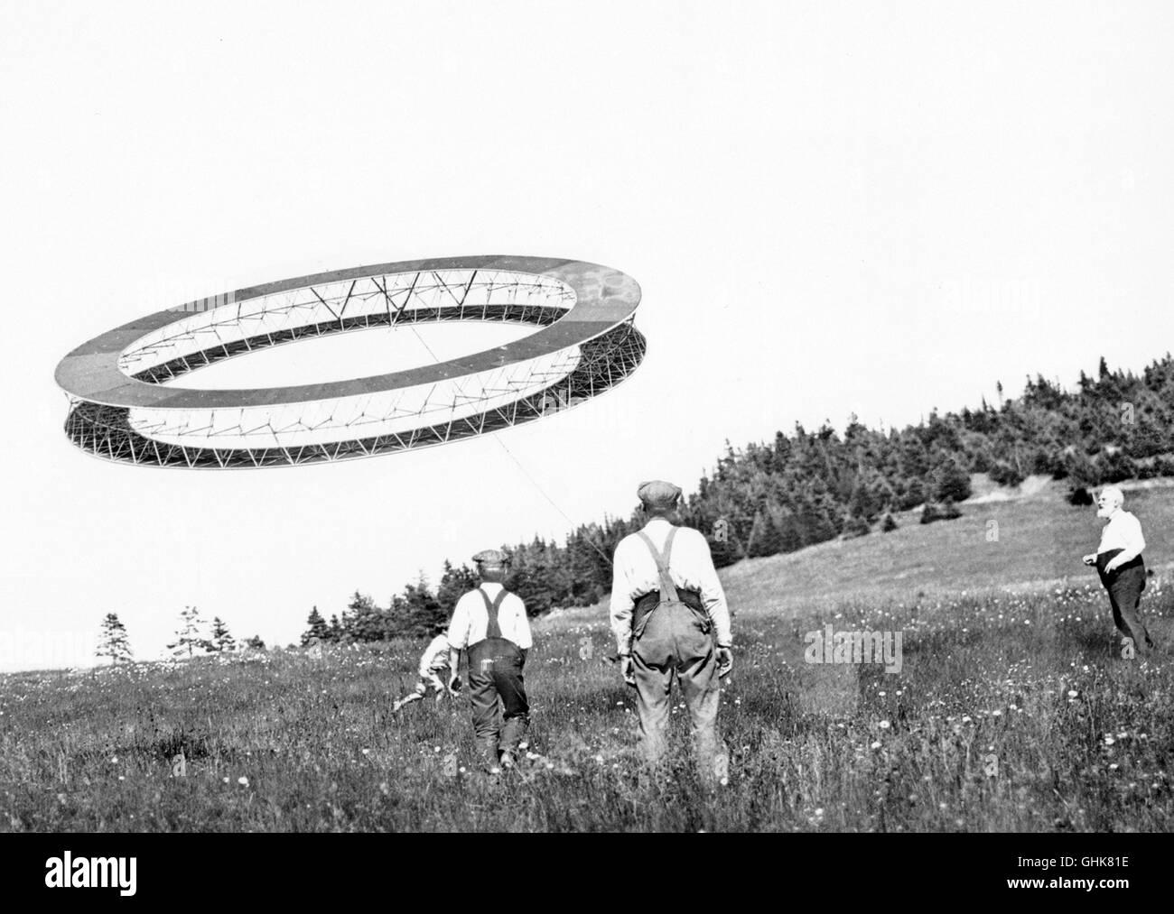 Alexander Graham Bell, 1908 cerf-volant tétraédrique avec Photo Stock