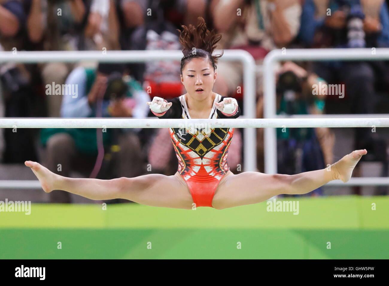 Rio de Janeiro, Brésil. Août 11, 2016. Asuka Teramoto (JPN): gymnastique artistique finale concours Photo Stock
