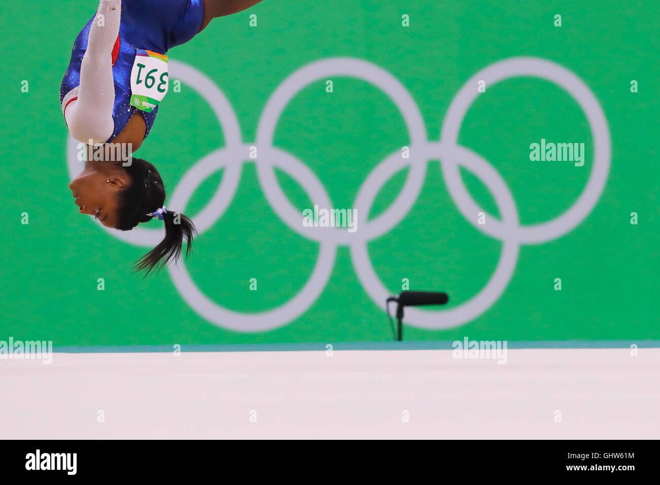 Rio de Janeiro, Brésil. Août 11, 2016. Simone Biles (USA): gymnastique artistique finale concours Photo Stock