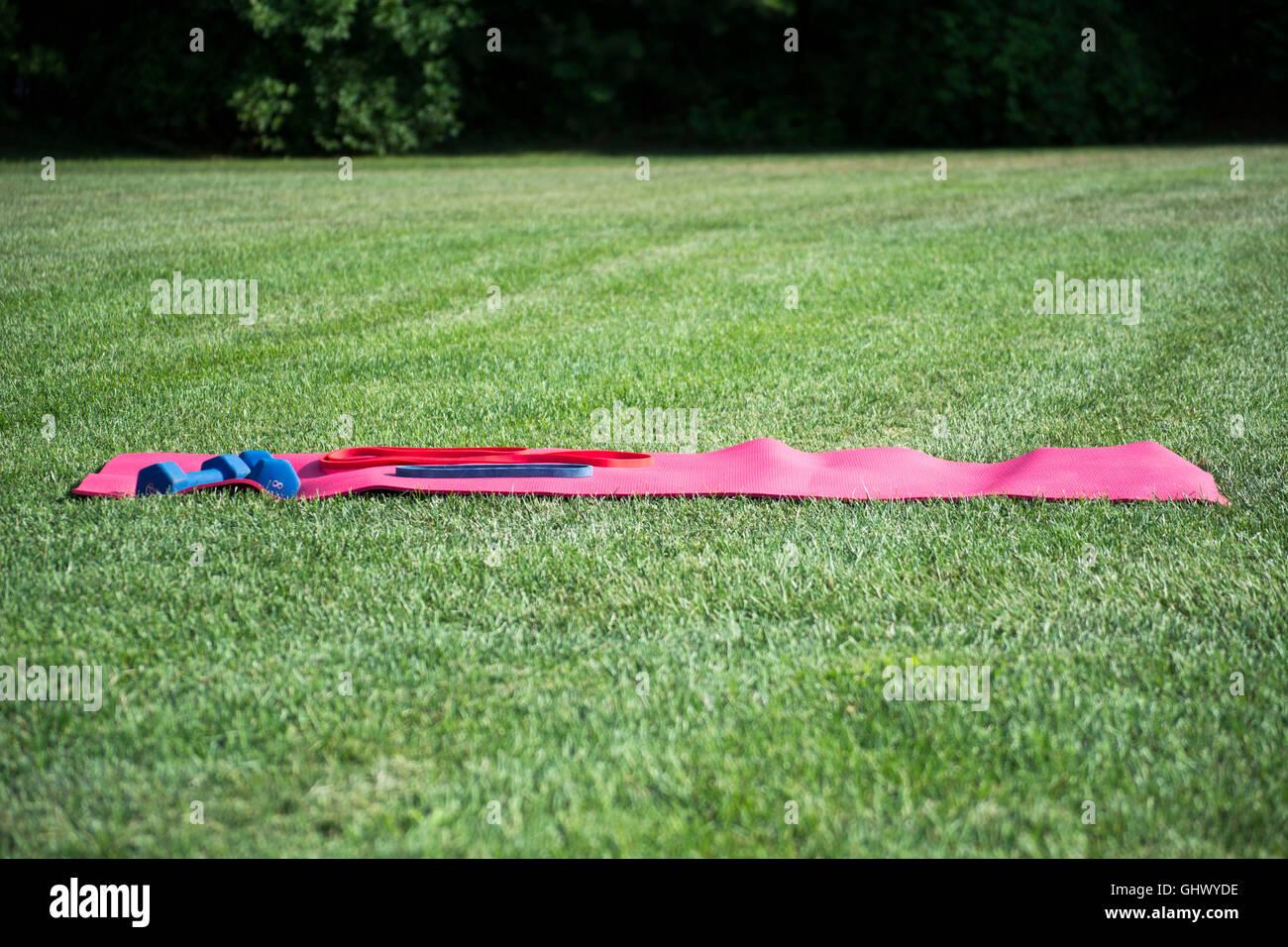 L'équipement d'exercice à l'extérieur Photo Stock