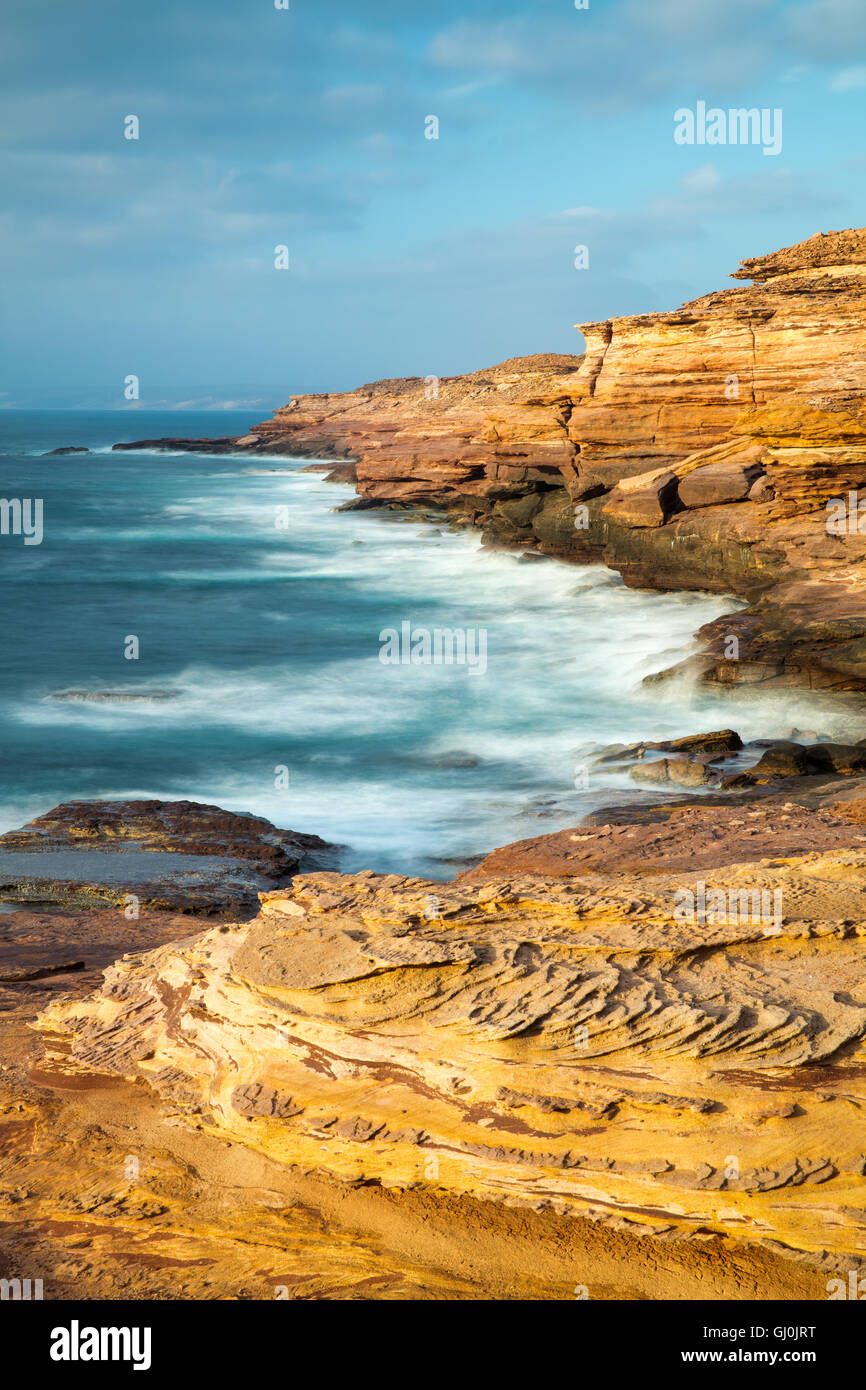 Les falaises du parc national de Kalbarri à Pot Alley, dans l'ouest de l'Australie Photo Stock
