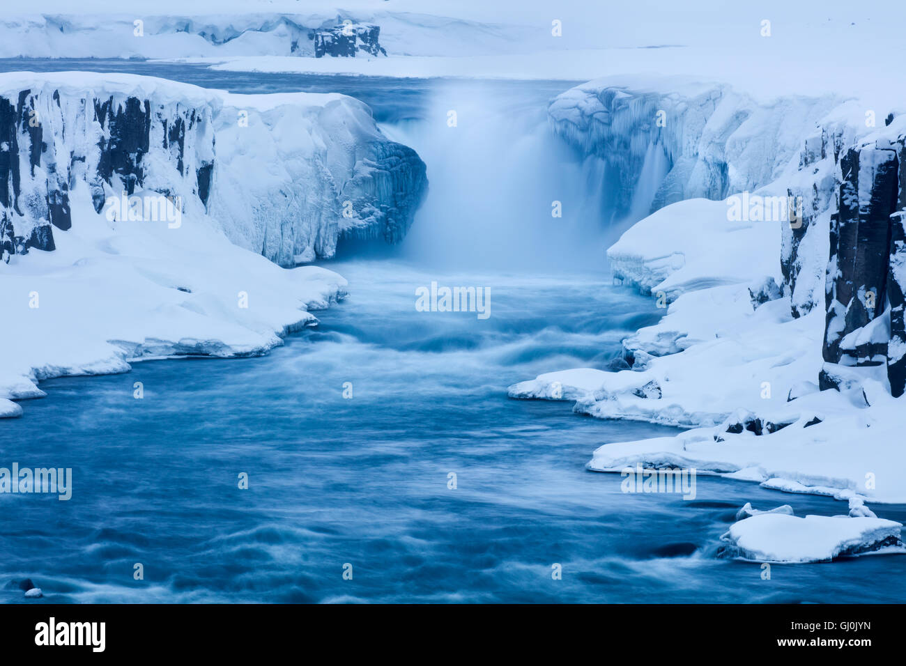 Selfoss, le parc national du Vatnajökull, dans le nord-est de l'Islande Photo Stock