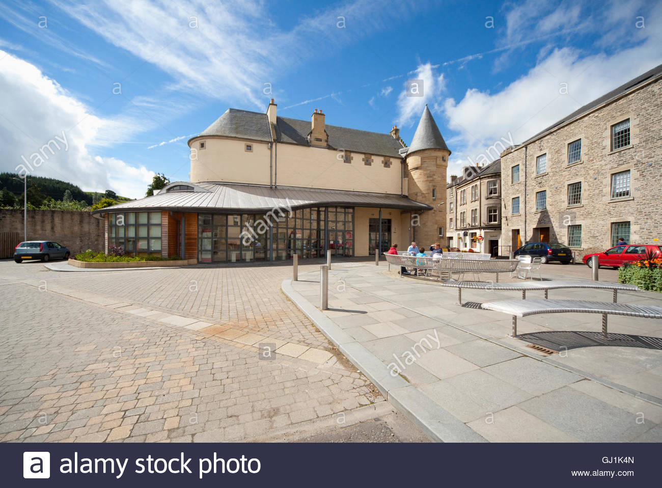 Le moyeu du patrimoine, l'archive et de l'histoire locale, Centre de Hawick, Scottish Borders, Scotland. Photo Stock