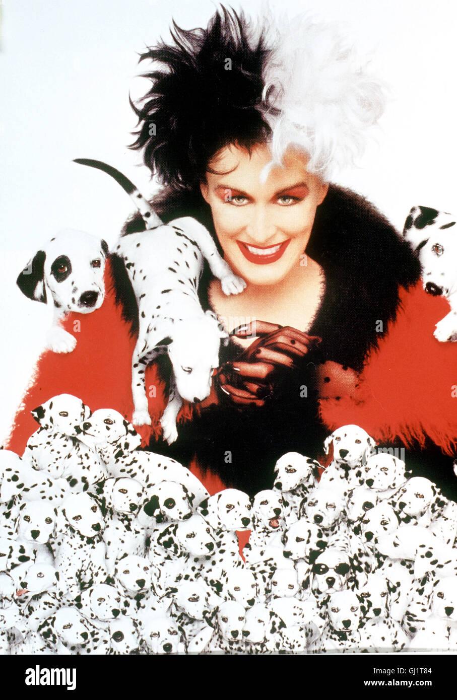les 101 dalmatiens cruella devil die exzentrische glenn close hat es auf 15 dalmatiner welpen. Black Bedroom Furniture Sets. Home Design Ideas