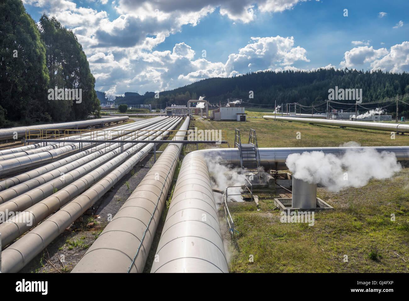 L'énergie géothermique, près de Taupo Nouvelle Zélande Photo Stock