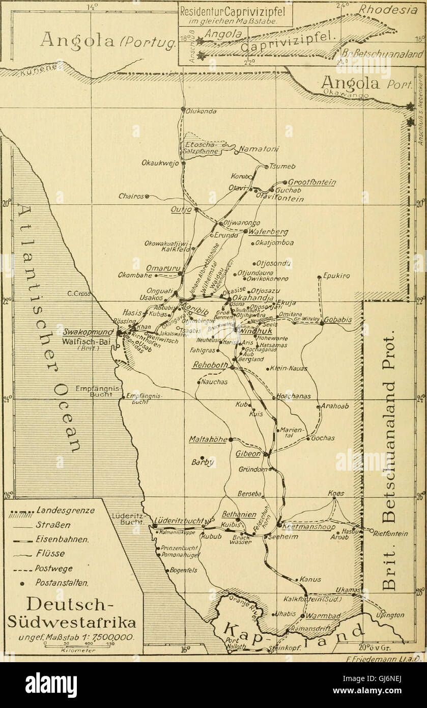 Die postwertzeichen postanstalten entwertungen und der deutschen schutzgebieten in den und im auslande (1921) Banque D'Images