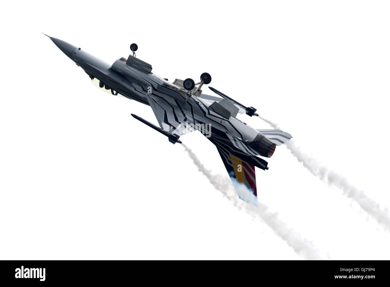 Force Aérienne Belge BAF F-16AM Fighting Falcon 350 Sqn/10 Gizmo Aile de Moortel Au RIAT 2016 Royal International Air Tattoo Banque D'Images