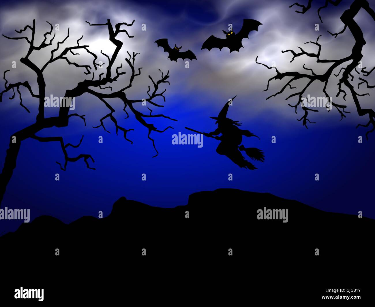 sorcière d'Halloween Photo Stock