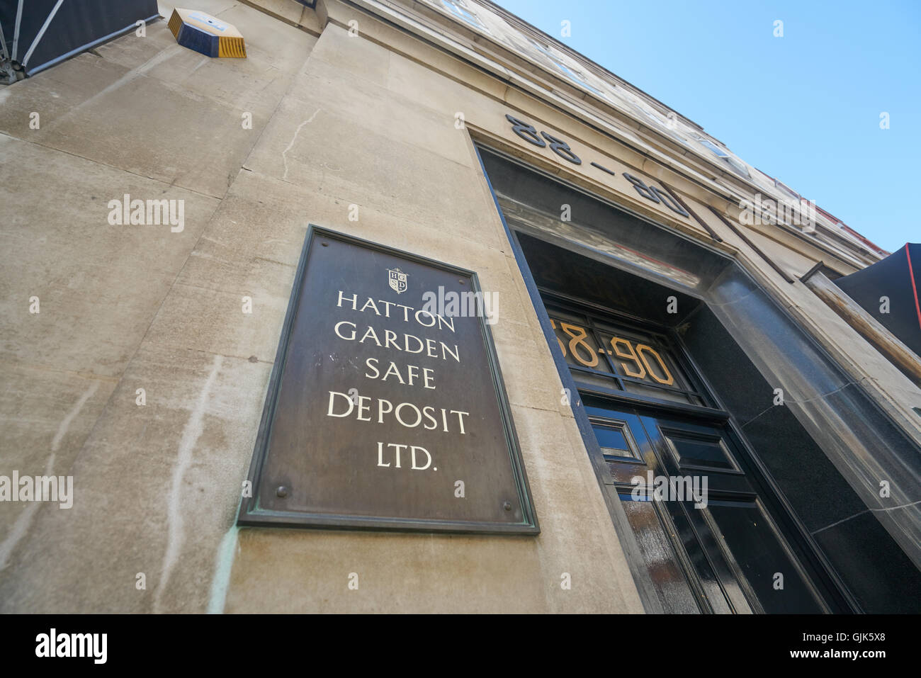 Hatton Garden Coffre-fort Photo Stock