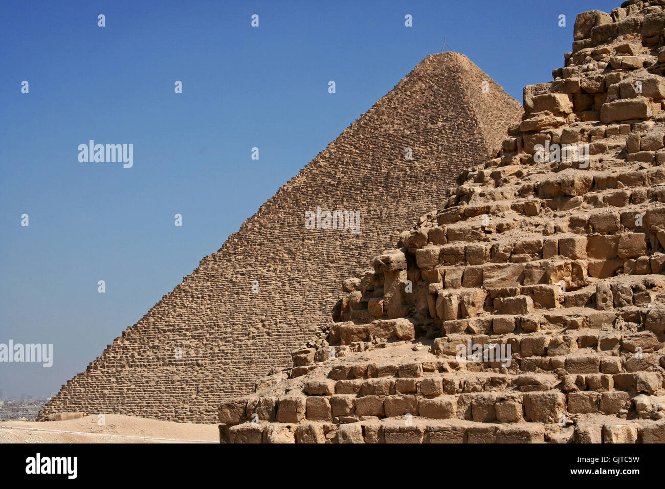 Cairo Pyramids merveille du monde Photo Stock
