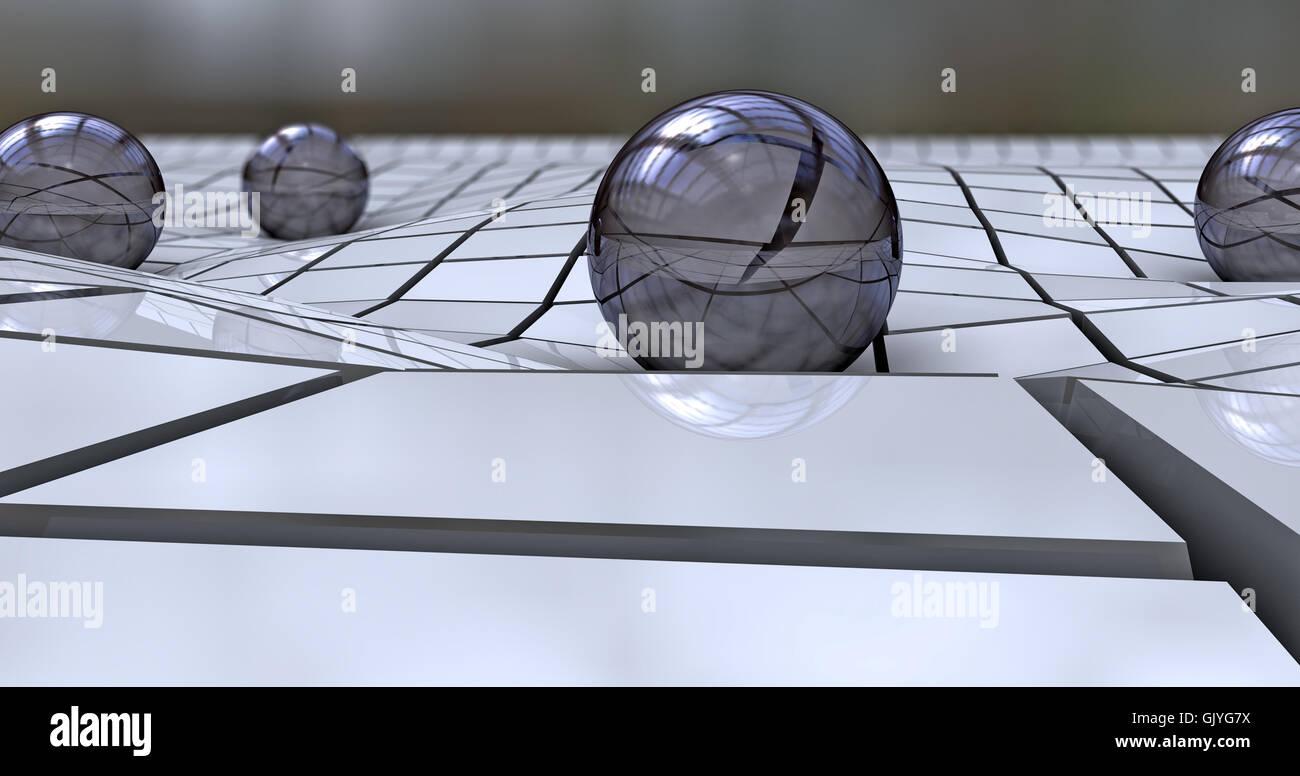 Géométrie de visualisation prisme rectangulaire Photo Stock