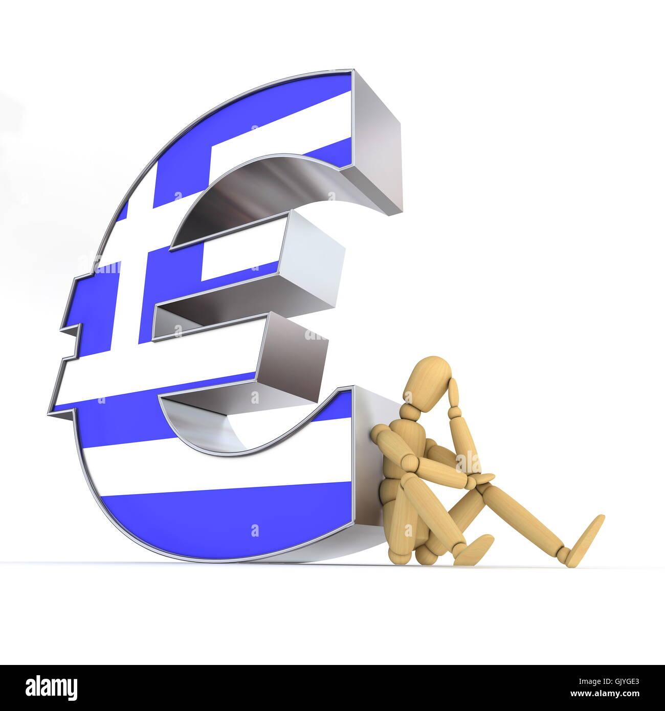 Personne Grèce euro Banque D'Images
