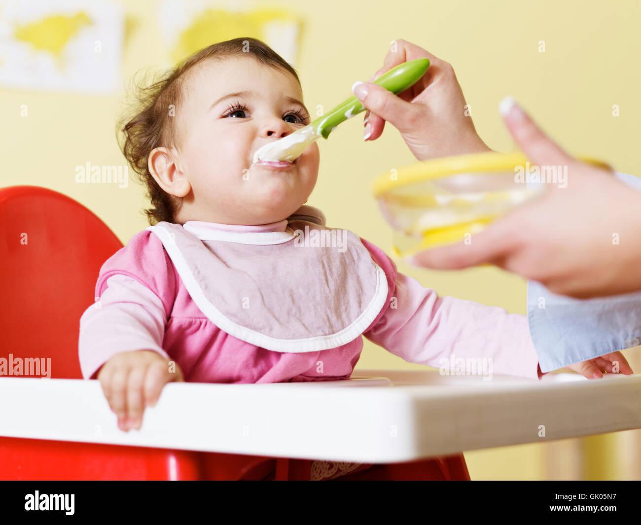 Aliment alimentaire femme Banque D'Images