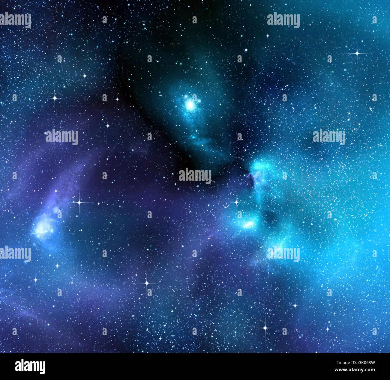 Profondeur de l'espace galaxy Photo Stock
