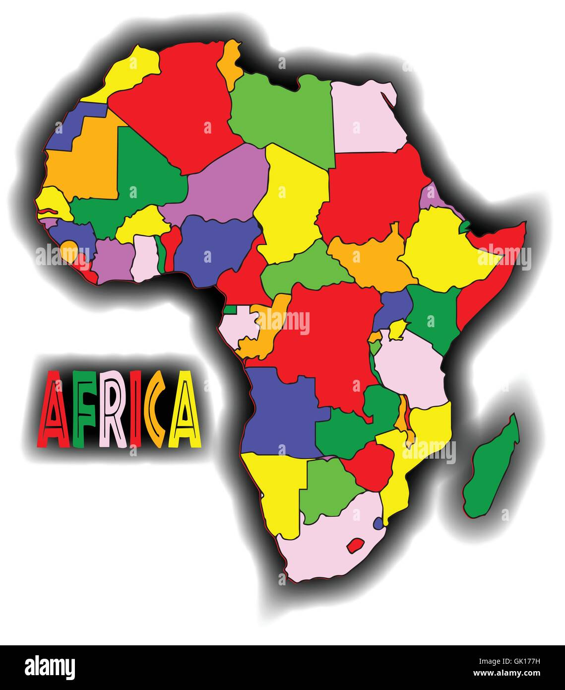 Afrique Patchwork Photo Stock