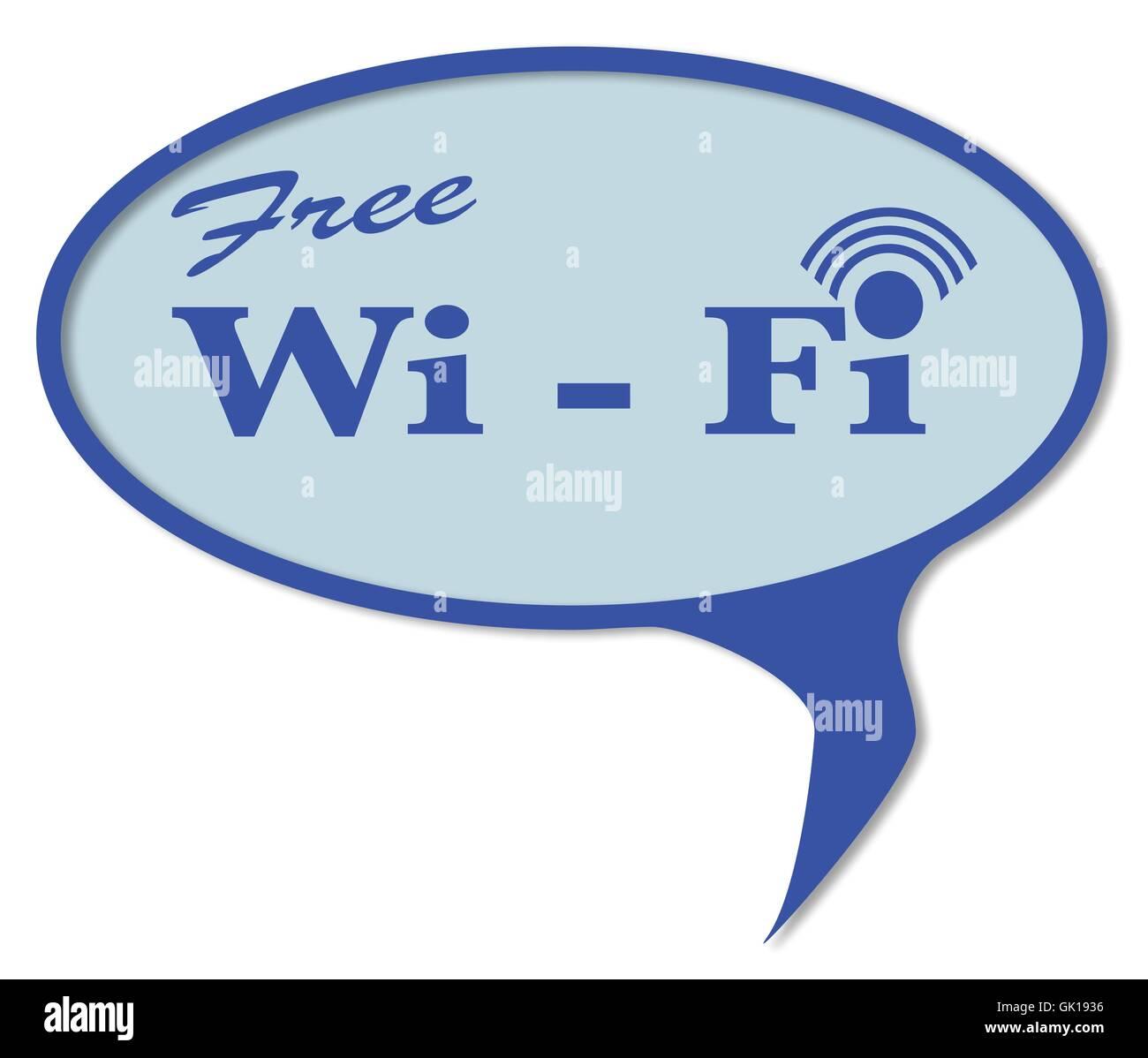 Wi Fi gratuit Bulle Photo Stock
