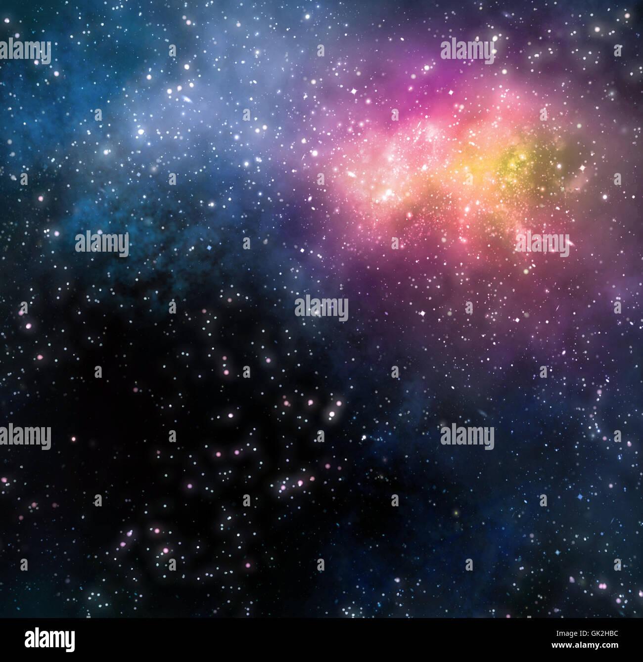 Profondeur de l'espace étoile Photo Stock