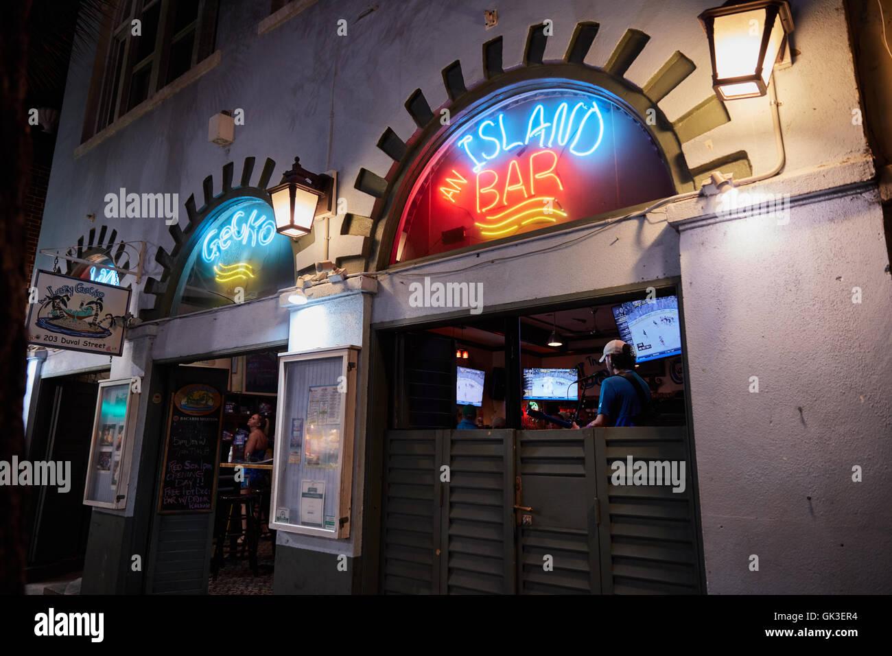 Lazy Gecko Bar à Key West, Floride Photo Stock