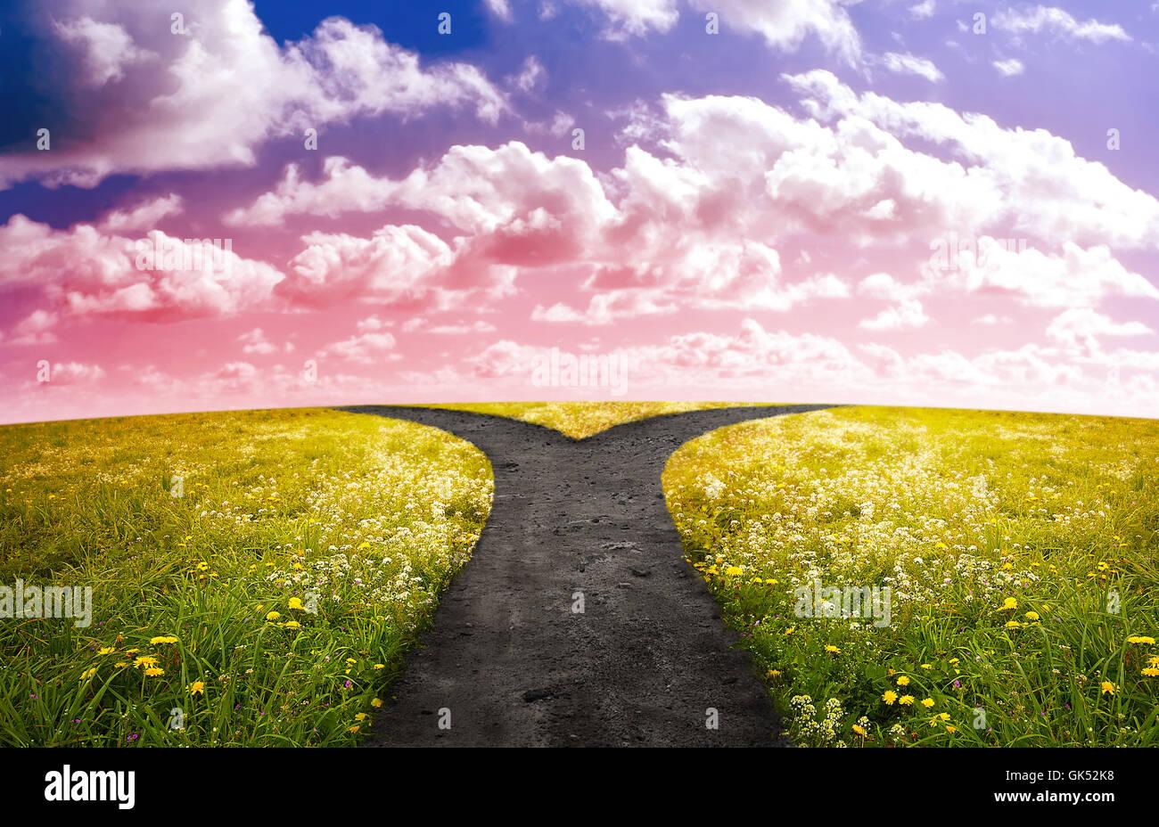 Choisir décision crossroad Photo Stock