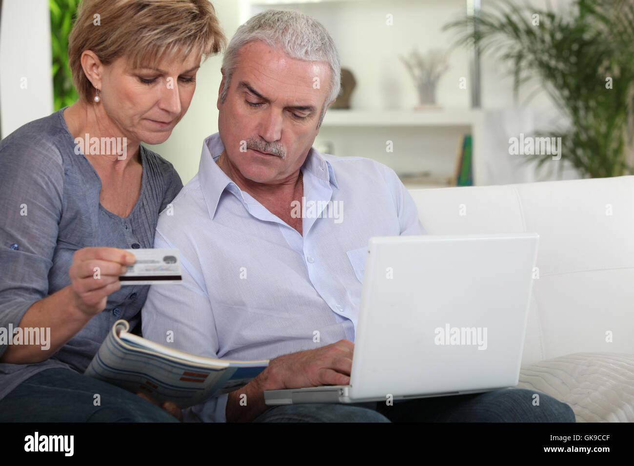 Établissement de crédit banque brochure Photo Stock