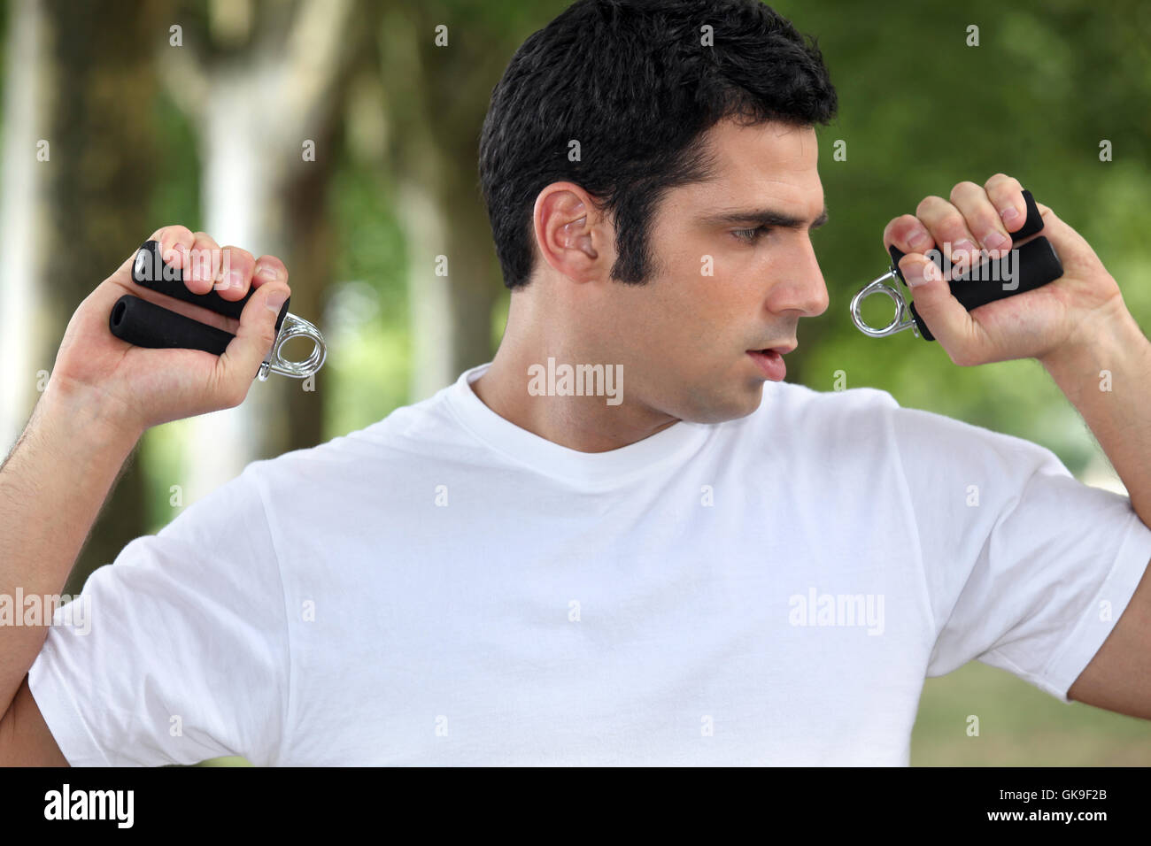 L'équipement d'exercice actif Photo Stock