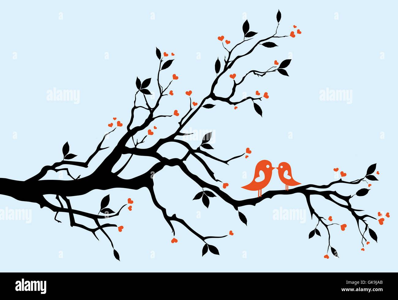 Direction générale de l'oiseau de l'arbre Photo Stock