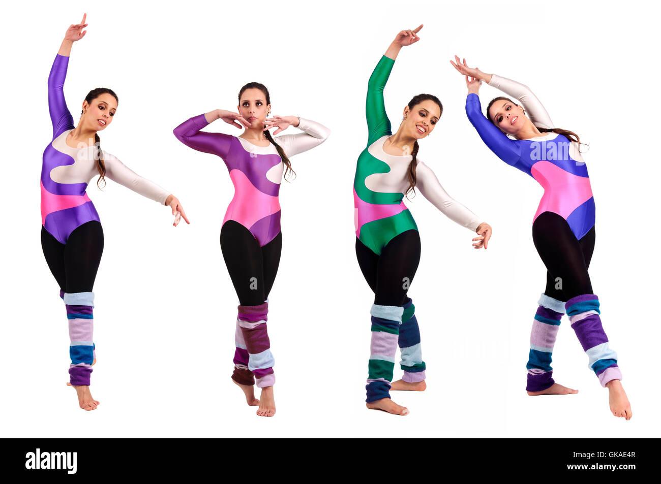 Équilibrer flexibilité femelle Photo Stock
