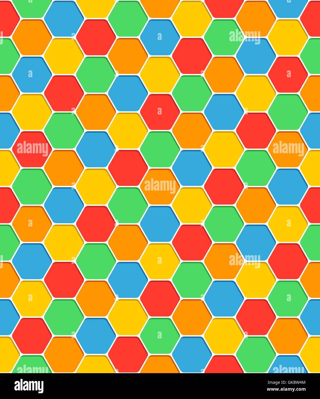 Motif transparente texture en nid d'ombre avec des formes hexagonales. Résumé fond couleur blanc. Template vide Illustration de Vecteur