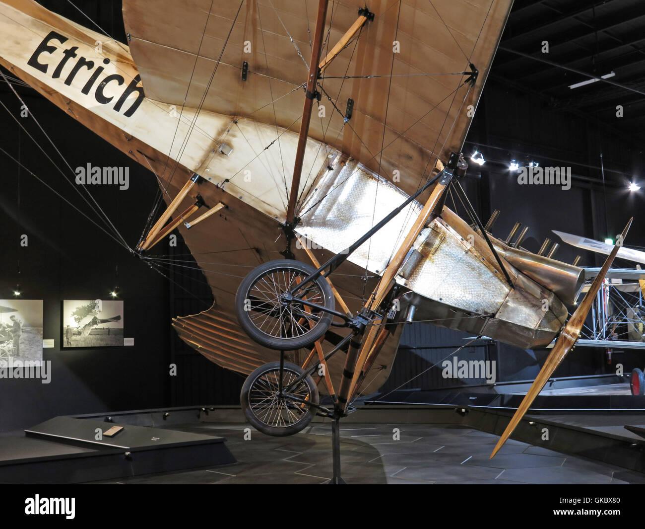 Centre du patrimoine mondial de l'Aviation Omaka à Blenheim, Nouvelle-Zélande Photo Stock