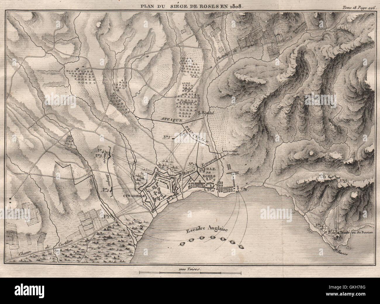 Siege De Roses Rosas 1808 Girona Guerre Peninsulaire L Espagne