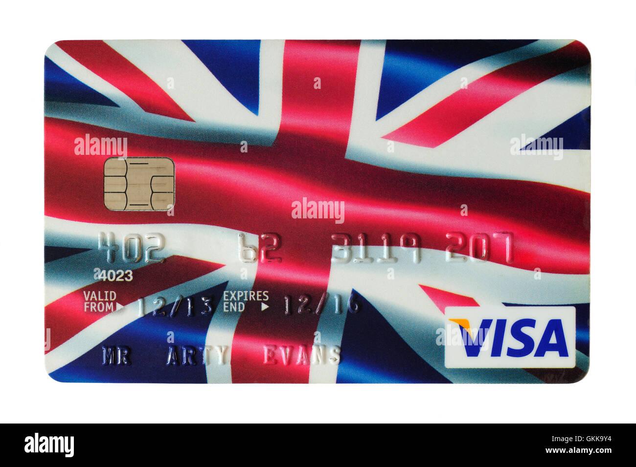 Carte Visa Angleterre.Carte De Credit Visa Avec L Union Devant L Angleterre Uk