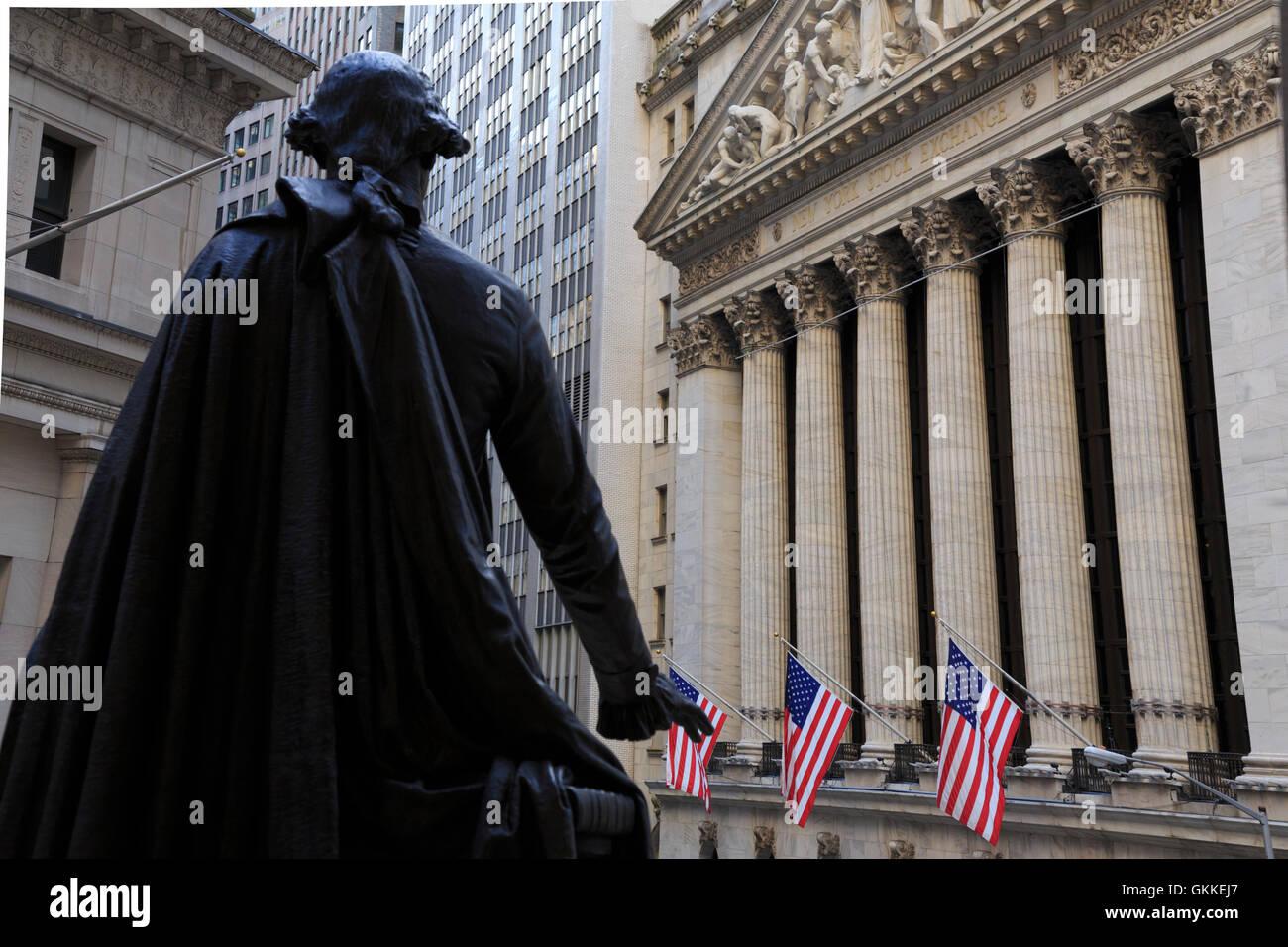USA, New York, New York, Manhattan, Wall Street Photo Stock