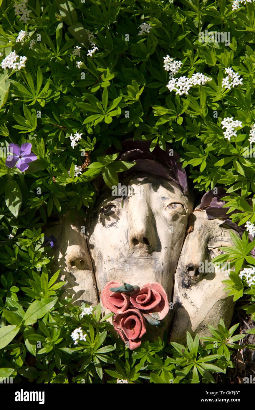 L'art conceptuel par Laura Allen Williams dans le Centennial Gardens sur le campus de l'Université du Wisconsin, Banque D'Images