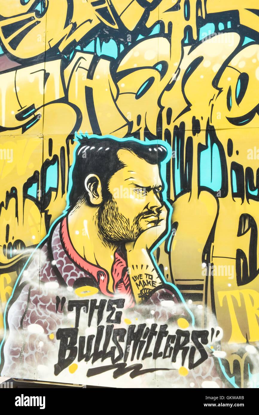 Graffiti à Perpignan. Photo Stock