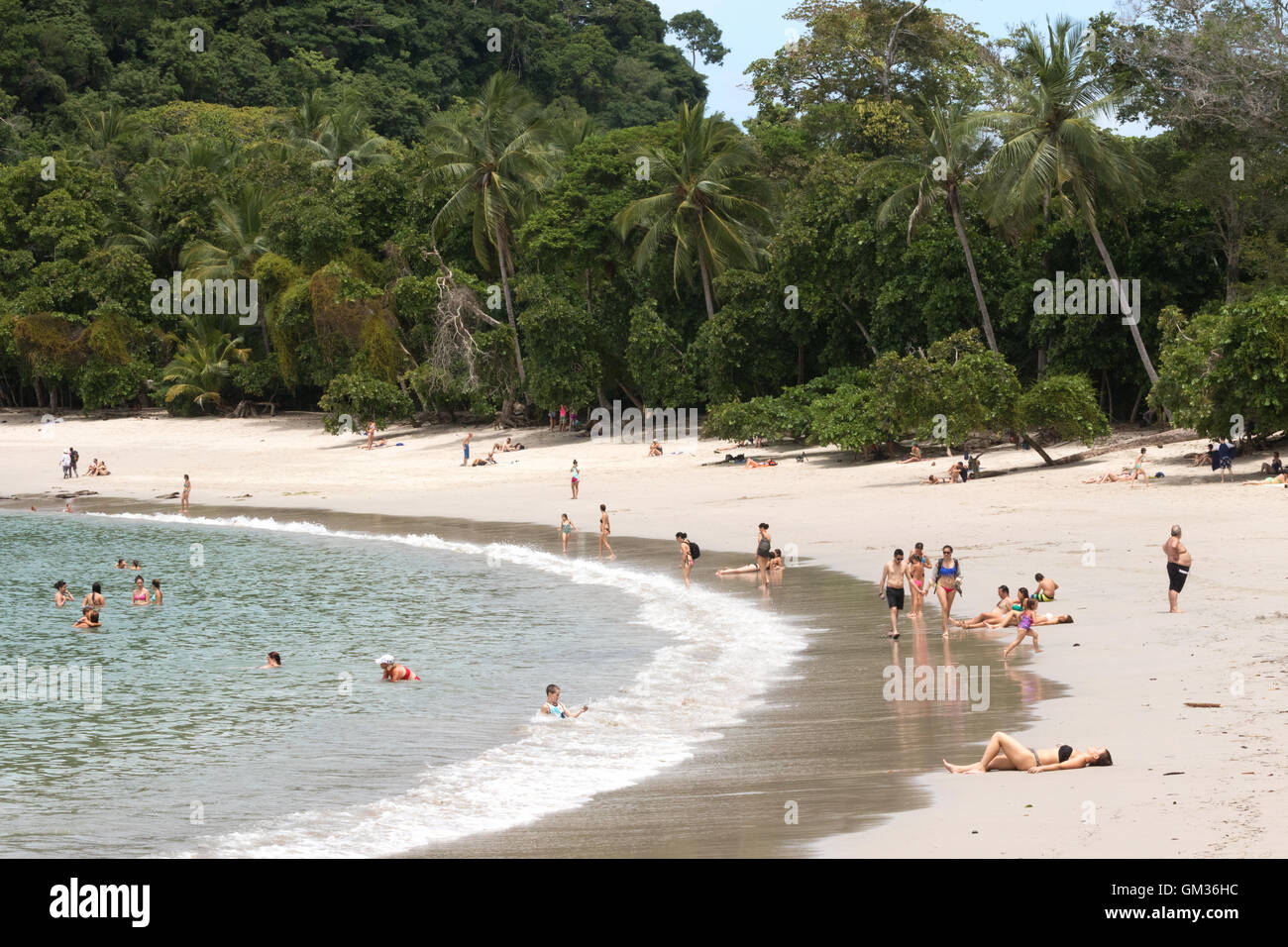 La plage de Manuel Antonio National Park, côte Pacifique, Costa Rica, Amérique Centrale Photo Stock